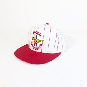 Other - Vintage 60s Ford Mustang White Red Snapback Hat